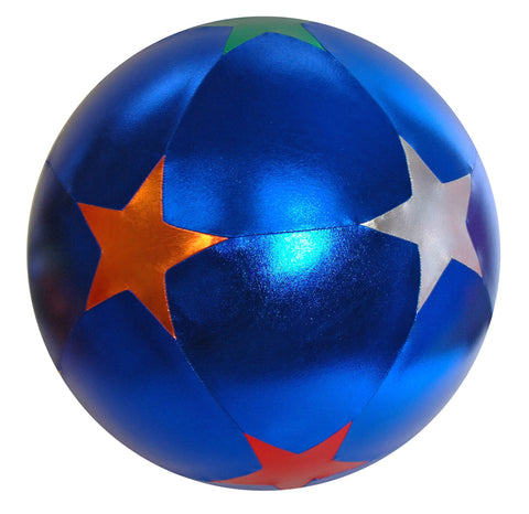 Y'all Ball 40 Inch Inflatable Blue w Multi Color Star Pattern