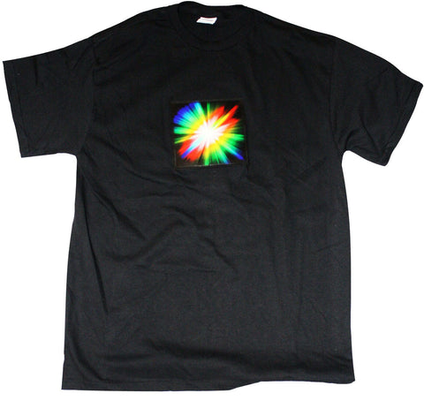 Sound and Motion Activated EL T-Shirt - Starburst - X-large