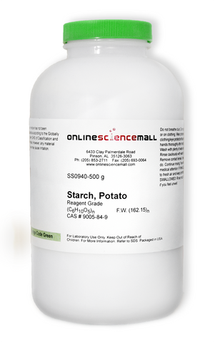 Potato Starch Soluble Powder, 500g - Reagent Grade Chemical Reagent