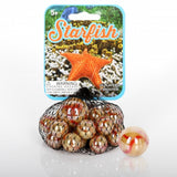Starfish Game Net Set 25 Piece Glass Mega Marbles