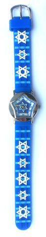 The Kids Watch Company Star of David Watch One Size Blue Band