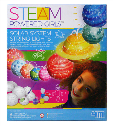 4M STEAM Powered Girls Solar System LED String Lights Art Kit