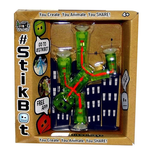 Stikbot Animation Toy w/ Free App (Translucent Light Green)