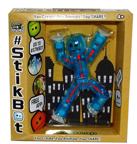 Stikbot Animation Toy w/ Free App (Translucent Blue)