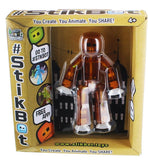Stikbot Animation Toy w/ Free App (Translucent Brown)