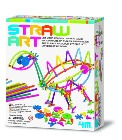 4M Straw Art Kit Create With Straws By Toysmith