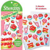 Scratch & Sniff Strawberry Scented Stickers