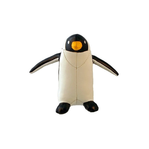 Handcrafted Faux Leather Penguin Paperweight