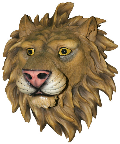 Mounted Lion Head Hanging Wall Art Attack Plaque