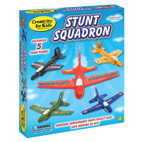Stunt Squadron Foam Airplanes Kit - Make 5 Flying Foam Planes