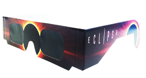 The Eclipser Safe Solar Eclipse Glasses CE Certified, Burning Sun Frame - 5 Pack