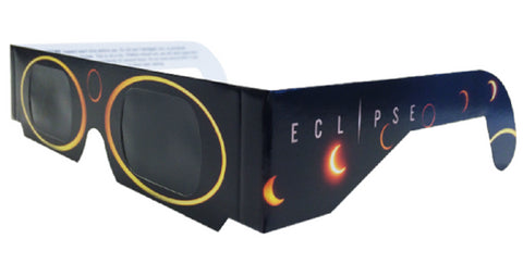 The Eclipser Safe Solar Eclipse Glasses CE Certified, Sun Circles Frame - 5 Pack