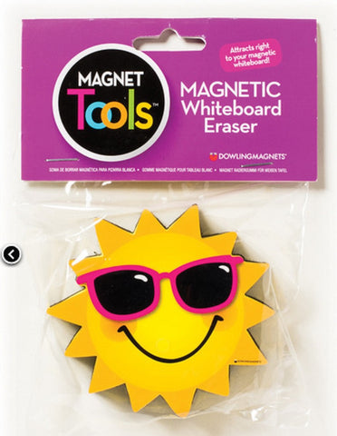 Sun Shaped Magnetic Whiteboard Eraser - Dry Erase Magnet Tool