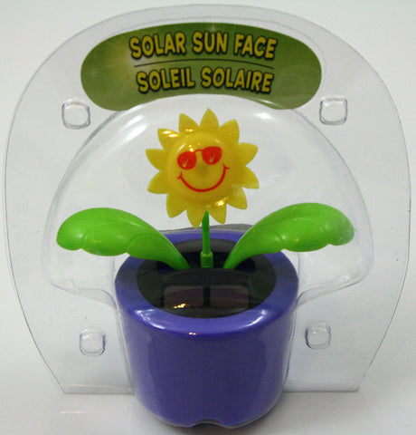 Solar Powered Dancing Sun Face