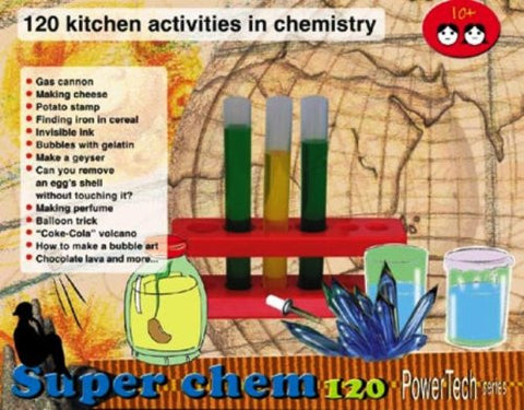 Power Tech Super Chem 120 Chemistry Kit; 120 Kitchen Activities in Chemistry