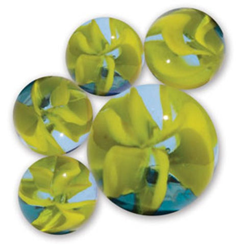 Swamp Thing Game Net Set 25 Piece Glass Mega Marbles