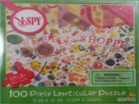 I SPY Sweet Shoppe - 3D Lenticular Puzzle & Riddle Game - 100 Pieces