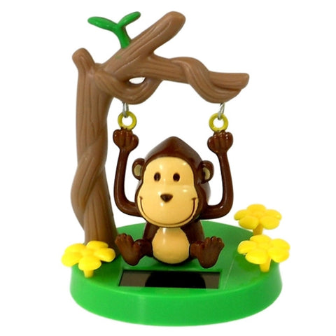 Solar Powered Swinging Monkey - Swings From Tree Branch in Sunlight