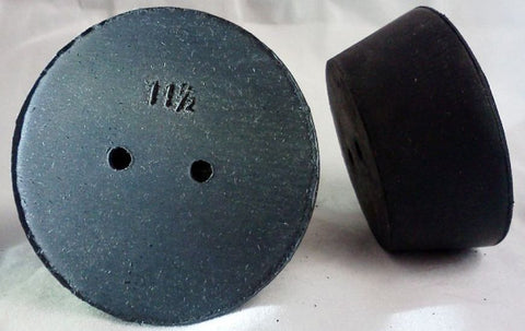 Rubber Stoppers: 2-hole: Per Pound: Size 11.5 (~5 Per LB.)