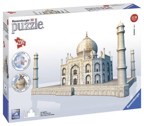 216 Piece 3D Taj Mahal Puzzle w/Accessory Pieces