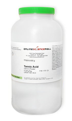 Tannic Acid Powder, 500g - Chemical Reagent