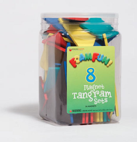 Foam Fun Magnet Tangram Sets - 56 Magnetic Pieces Assorted Colors