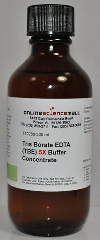 Tris-Borate EDTA (TBE) 5X Concentrated Buffer, 500mL