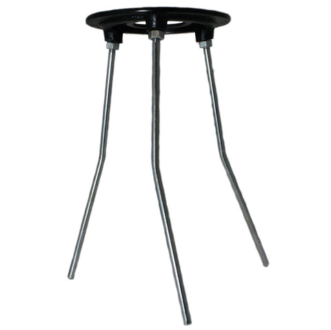 9 Inch Tall Tripod Burner Support Stand w/Set of 4 Concentric Rings