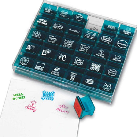 Jumbo Teacher Stampers Set Of 30 Rubber Stamps