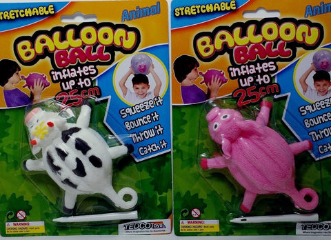 Farm Animal Pig & Cow Balloon Balls Set of 2 by TedCo