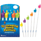 Telescoping Hand Pointers Colors Vary Pack of 10