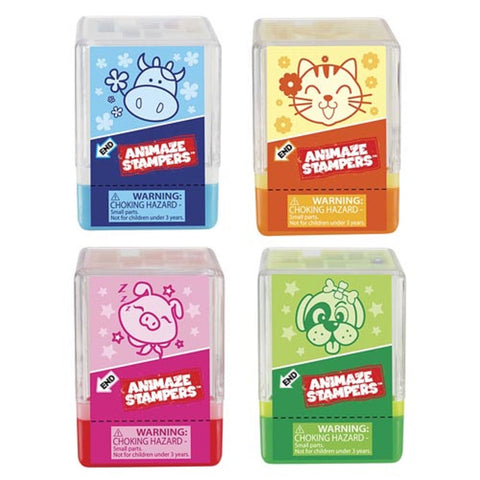 Animaze Stamper w/ 3D Puzzle - Pack of 4