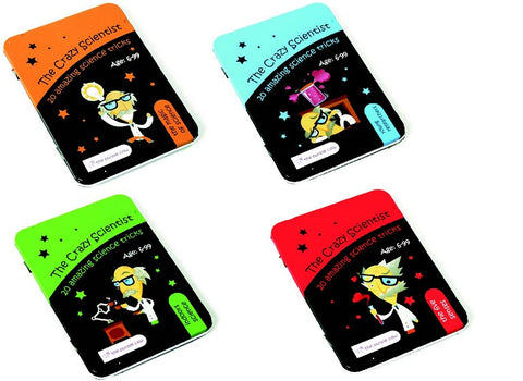 The Crazy Scientist 20 Amazing Science Tricks Collection - Set of 4