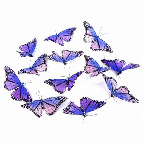 Purple and Violet Hand Painted Multi Colored Butterfly Garland
