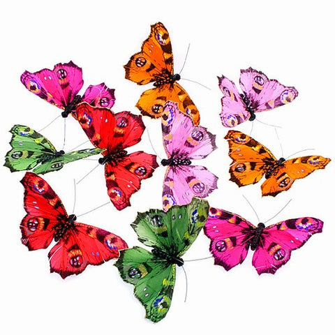 Hand Painted Multi Colored Butterfly Garland