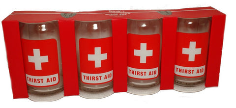 Thirst Aid 12oz  Beer Glasses Set of 4