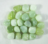 50+ Count Jade Tumbled Polished Crystal Green Stones, 0.5-1 Inch - Bulk 1 Pound