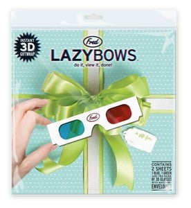 Lazy Bows 3D Gift Wrap - 3D Printed Lazybows Wrapping Paper with Glasses