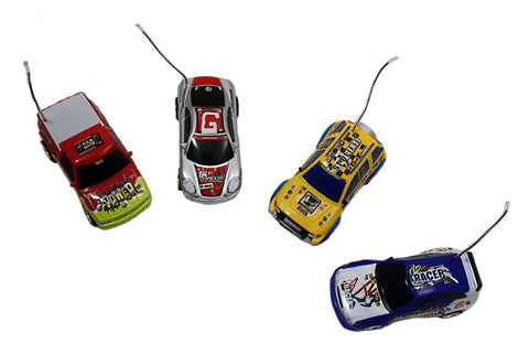 4PK Mighty Wheels 6 inch Remote Control Stock Car Racers