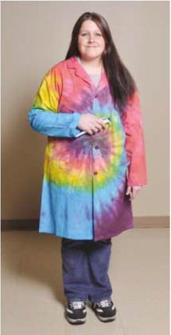 Lab Coat Tie Dyed XXL