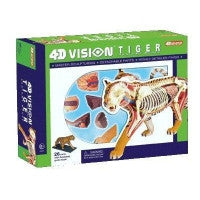 4D Vision Tiger Anatomy Model 3D CutAway Puzzle Toy