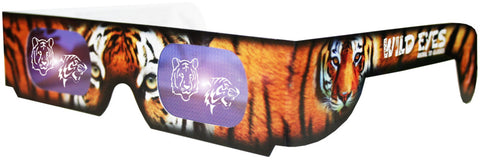 Holographic Tiger Wild Eyes 3D Paper Glasses