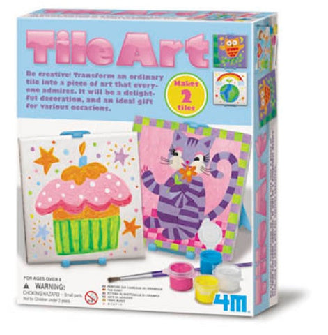 4M Paint Your Own Tile Art Decoration Craft Kit Ages 8+