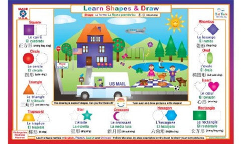 Learn Shapes & Draw - Activity Placemat by Tot Talk