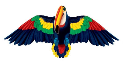 "Wildlife Toucan Bird Wing Flapper Kite-55"" Wingspan"