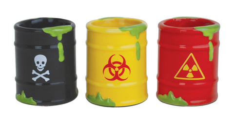 Toxic Waste Shot Glasses Set of 3
