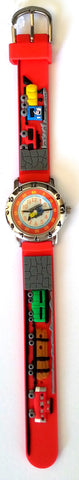 The Kids Watch Company Trains and Tunnel Watch One Size Red Band