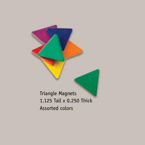 Magnetic Painted Triangles Pack of 6 Mixed Colors