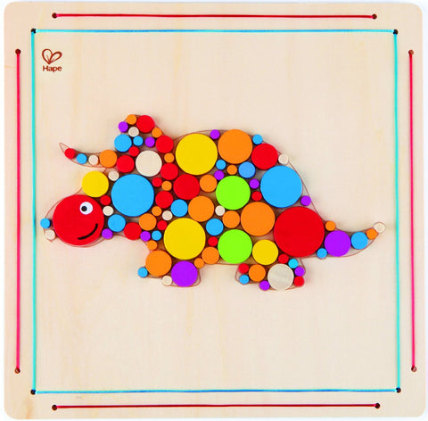 Hape Craft Kit - Triceratops Mosaic - 91 pc