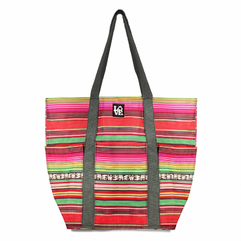 Trio Tote - Large Tote Bag in Love Blanket Pattern, by Love Bags